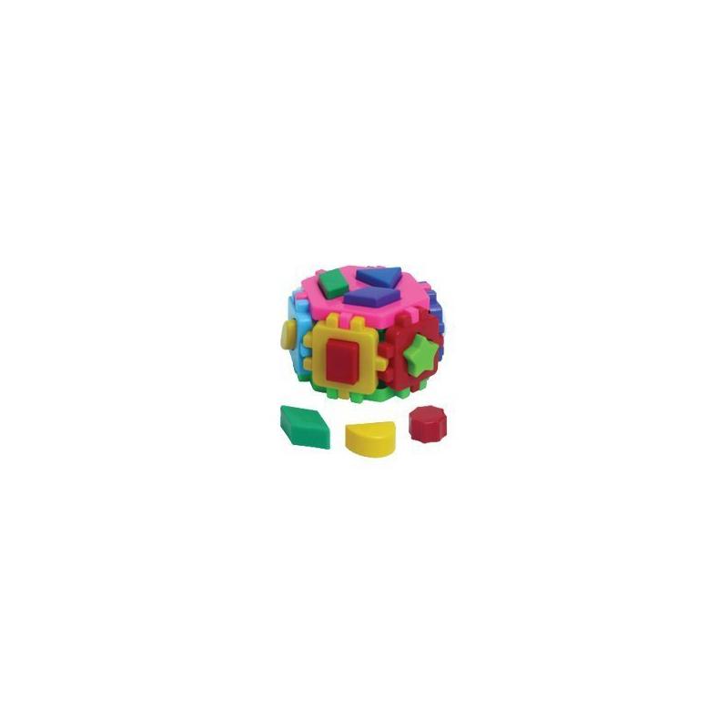 """Игрушка куб Умный малыш Гексагон 2 ТехноК сортер купить в магазине """"Пустун"""""""