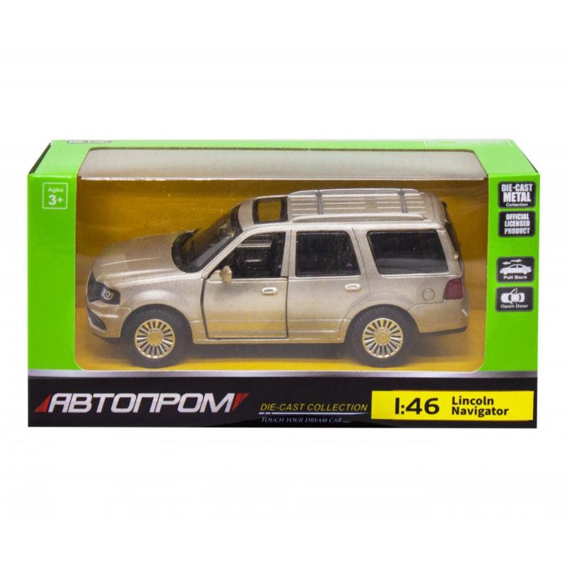 """Машинка """"Lincoln Navigator"""" из серии """"Автопром"""", серый 4309 купить в магазине """"Пустун"""""""