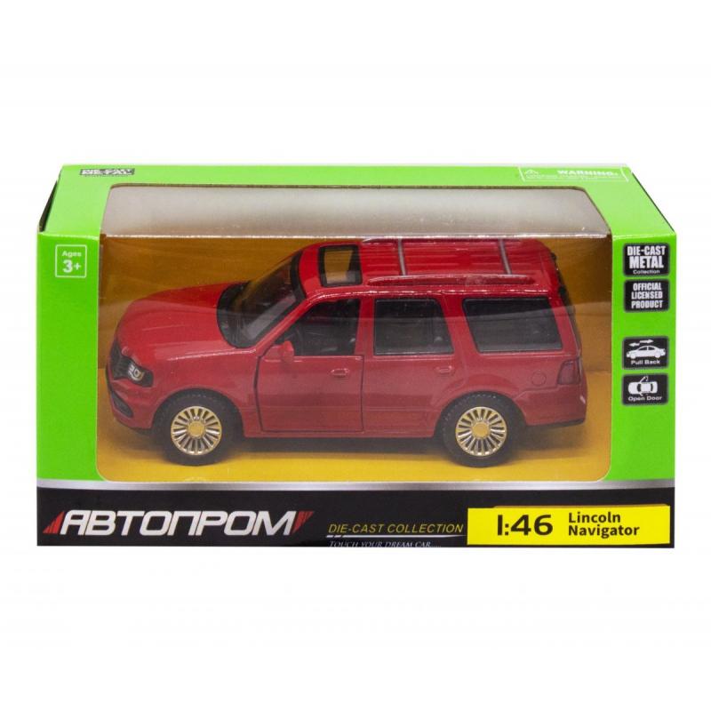 """Машинка """"Lincoln Navigator"""" из серии """"Автопром"""", красный 4309 купить в магазине """"Пустун"""""""