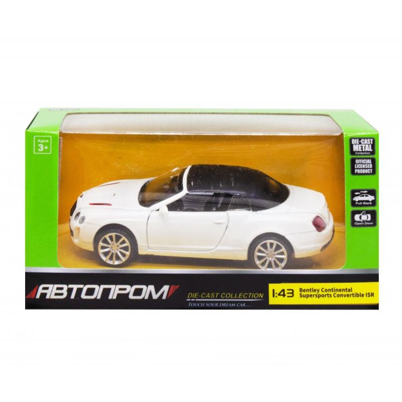 """Машинка """"Bentley Continental"""" из серии """"Автопром"""", белый 4320 купить в магазине """"Пустун"""""""