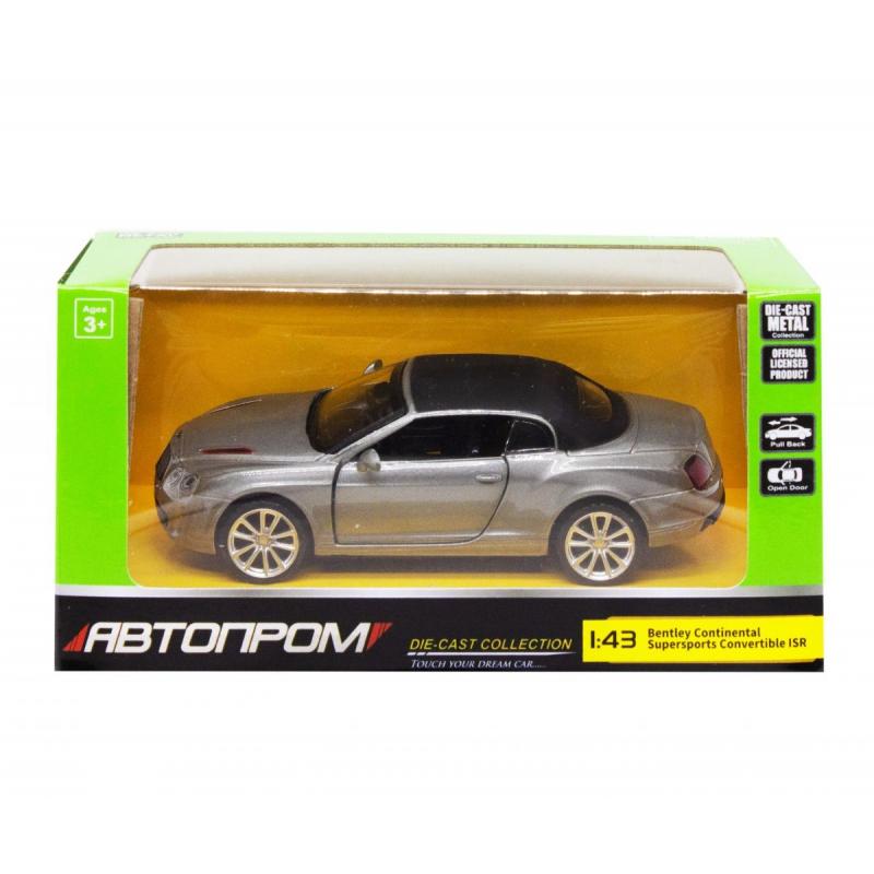 """Машинка """"Bentley Continental"""" из серии """"Автопром"""", серый 4320 купить в магазине """"Пустун"""""""