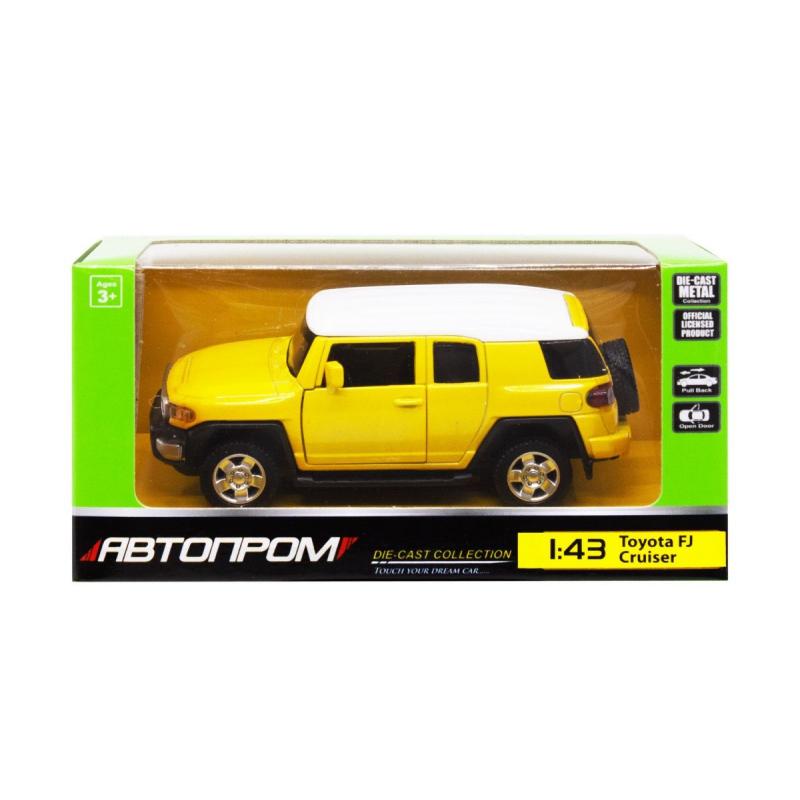 """Машинка """"Toyota FJ Cruiser"""" из серии """"Автопром"""", желтый 4305 купить в магазине """"Пустун"""""""