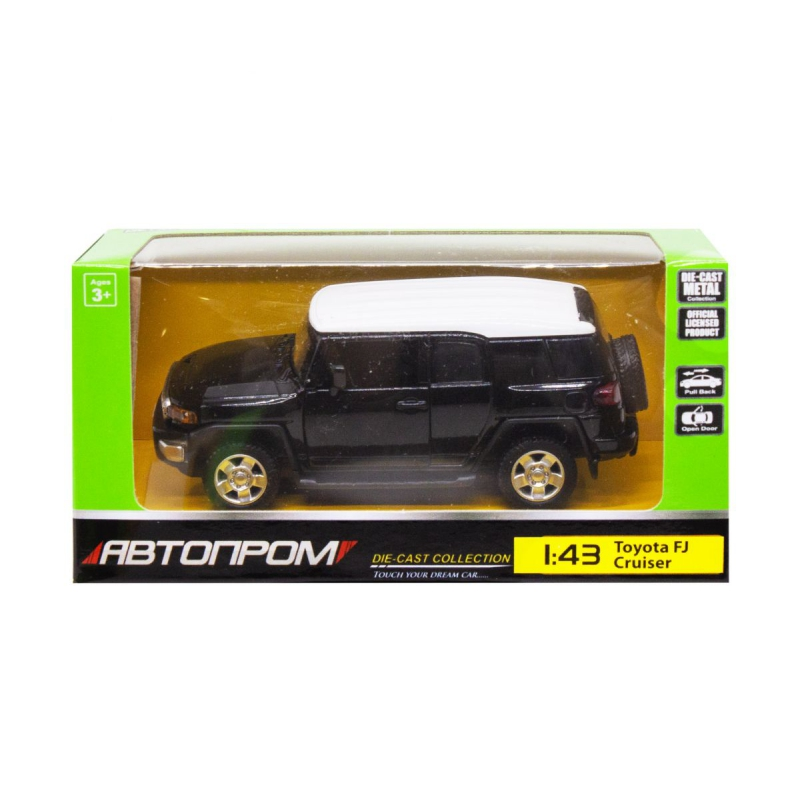 """Машинка """"Toyota FJ Cruiser"""" из серии """"Автопром"""", черный 4305 купить в магазине """"Пустун"""""""
