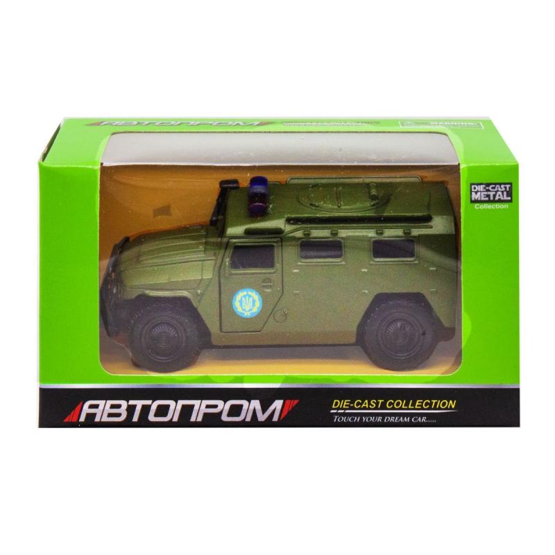 """Машинка """"ГАЗ Тигр"""" из серии """"Автопром"""", зеленый 6408B купить в магазине """"Пустун"""""""