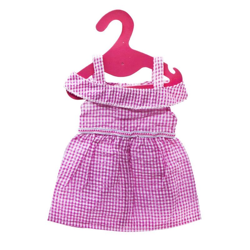 """Одежда для пупса: Платьице в клеточку купить в магазине """"Пустун"""""""