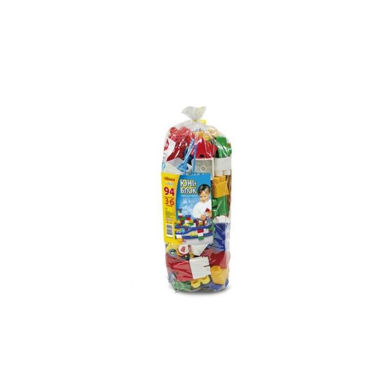 """Конструктор пластиковый """"Юни-блок"""" 94 детали 0729 купить в магазине """"Пустун"""""""