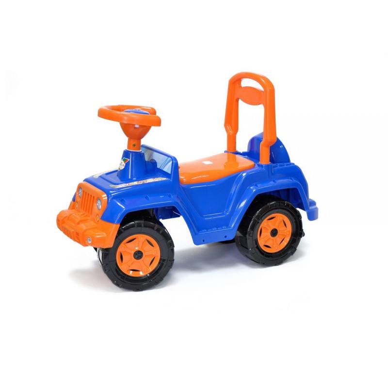 """Машинка каталка 4 х 4 (сине-оранжевая) 549_С купить в магазине """"Пустун"""""""