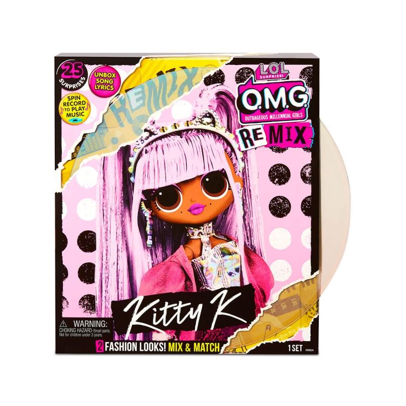 """Игровой набор с куклой L.O.L. Surprise! серии O.M.G. Remix- Королева Китти (567240) купить в магазине """"Пустун"""""""
