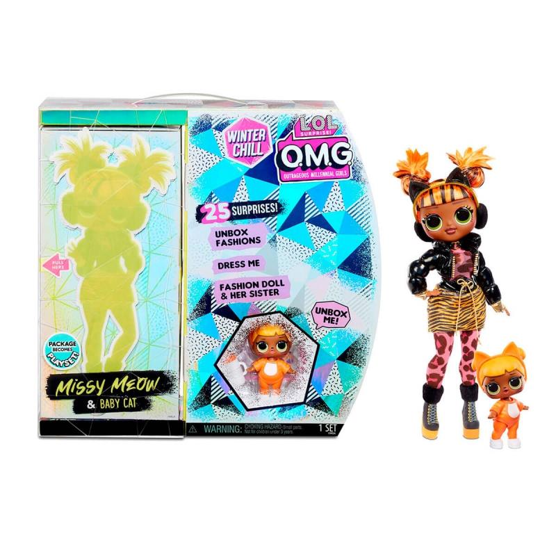 """Игровой набор с куклой L.O.L. Surprise! серии O.M.G Winter Chill – Леди-Китти (570271) купить в магазине """"Пустун"""""""
