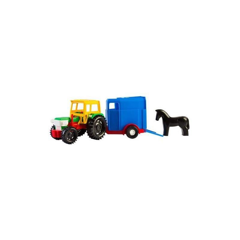 """Игрушечный трактор с прицепом (39215) купить в магазине """"Пустун"""""""