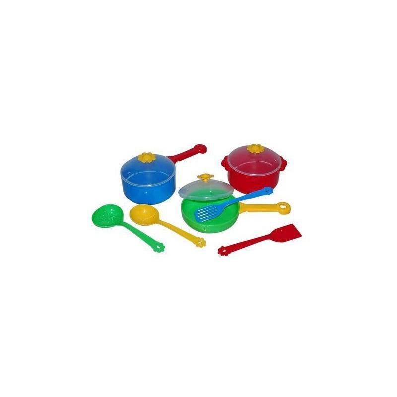 """Набор столовой посуды TIGRES Ромашка 10 элементов (39142) купить в магазине """"Пустун"""""""