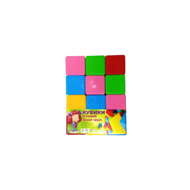 """Кубики цветные 12 штук купить в магазине """"Пустун"""""""