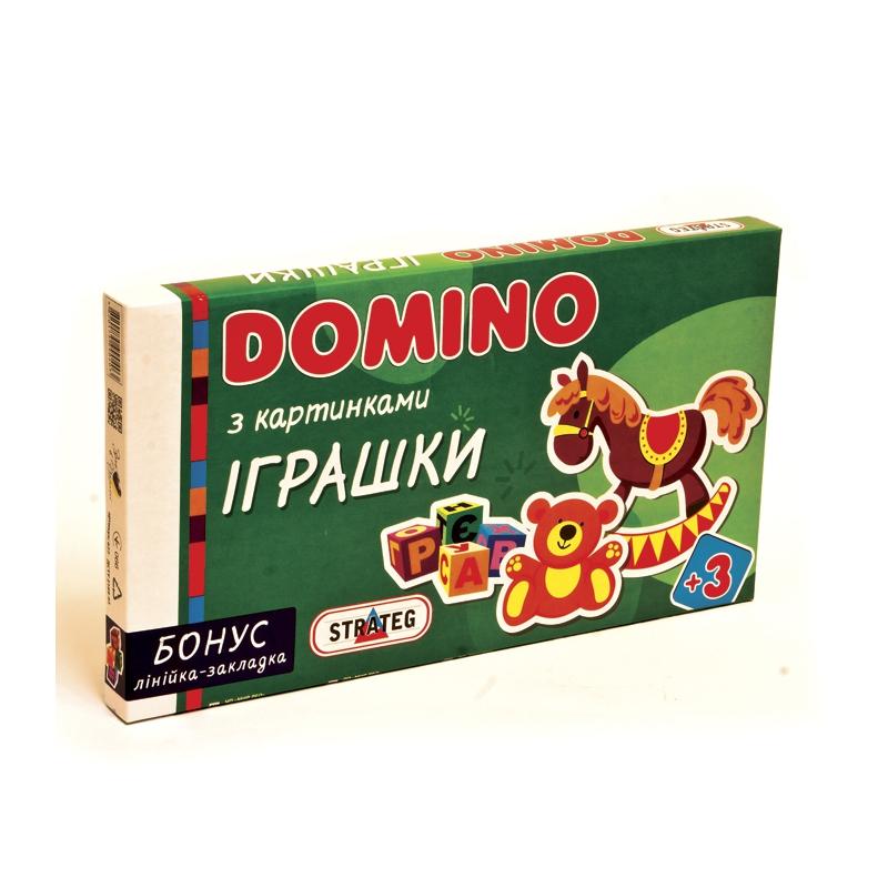 """Домино с картинками Игрушки купить в магазине """"Пустун"""""""