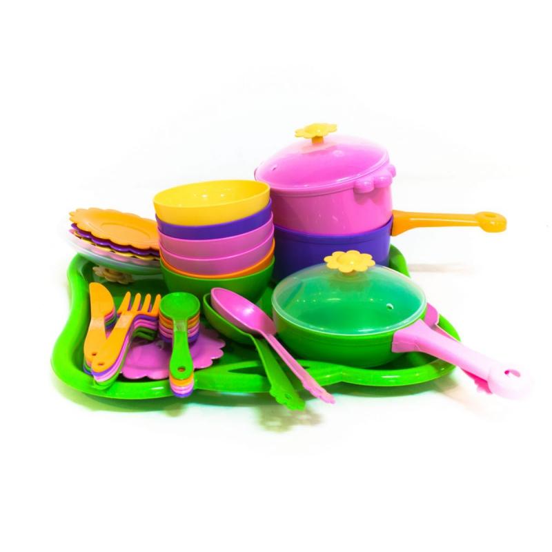 """Набор посуды столовый TIGRES Ромашка 43 элемента (39149) купить в магазине """"Пустун"""""""