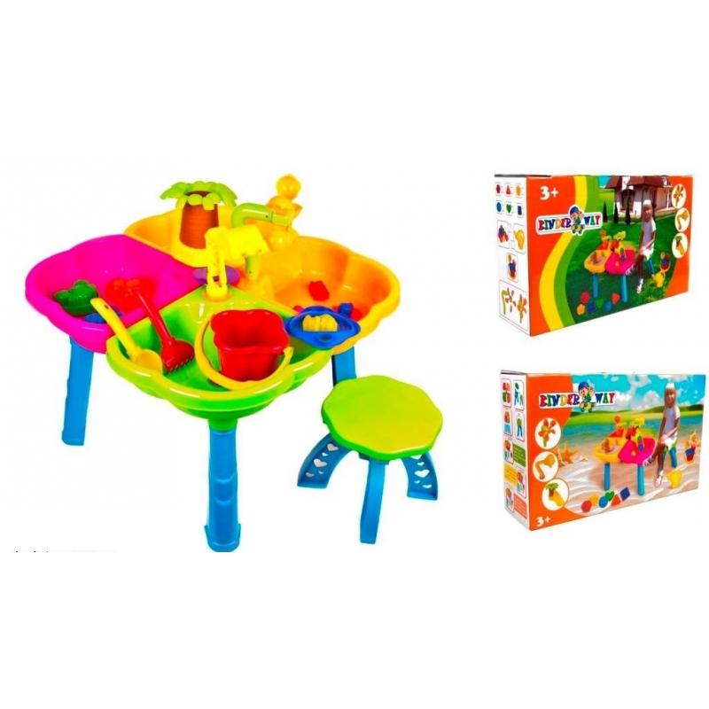 """Столик песочница с игрушками и стульчиком KW-01-121 купить в магазине """"Пустун"""""""