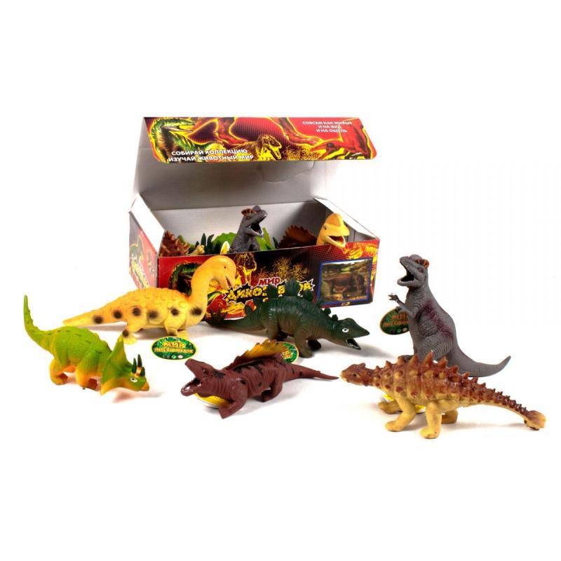 """Резиновая игрушка-тянучка """"Мир динозавров"""" 7209 купить в магазине """"Пустун"""""""