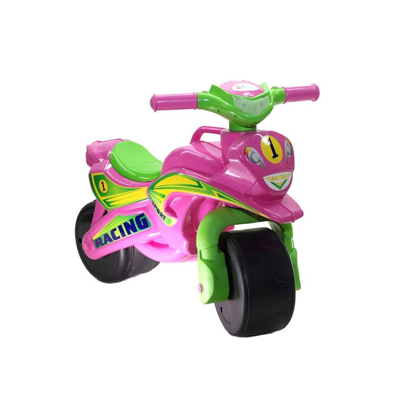 """Мотоцикл-каталка """"Спорт"""" (розовый) музыкальный 0139/3 купить в магазине """"Пустун"""""""