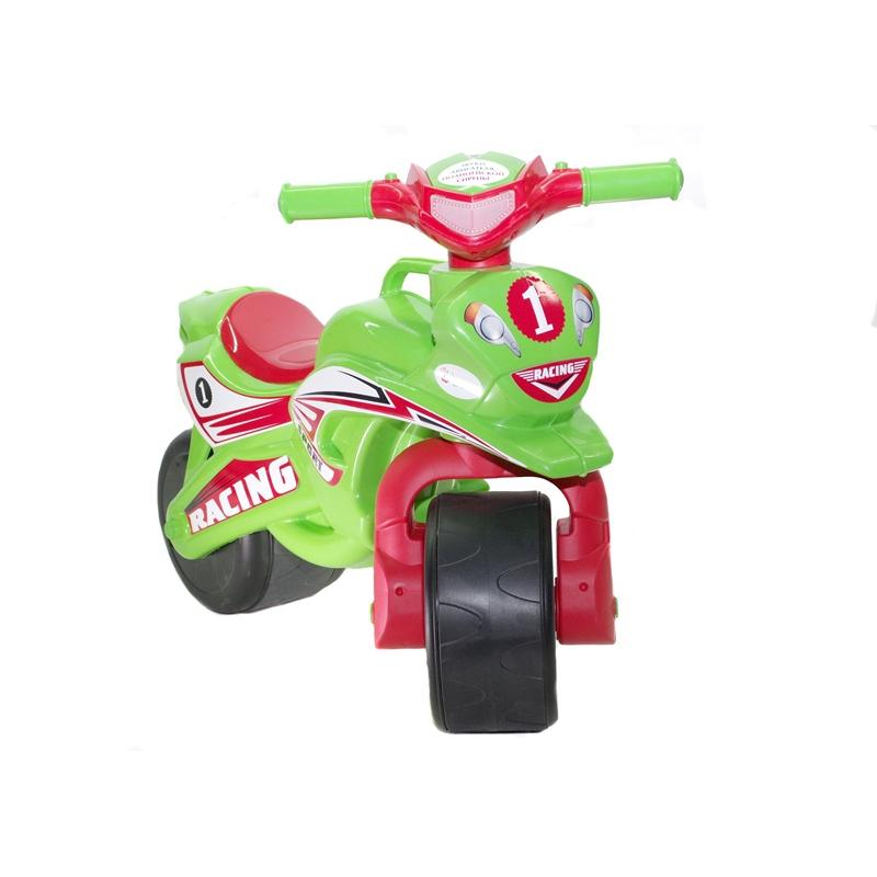 """Мотоцикл-каталка """"Спорт"""" (салатовый) музыкальный 0139/5 купить в магазине """"Пустун"""""""