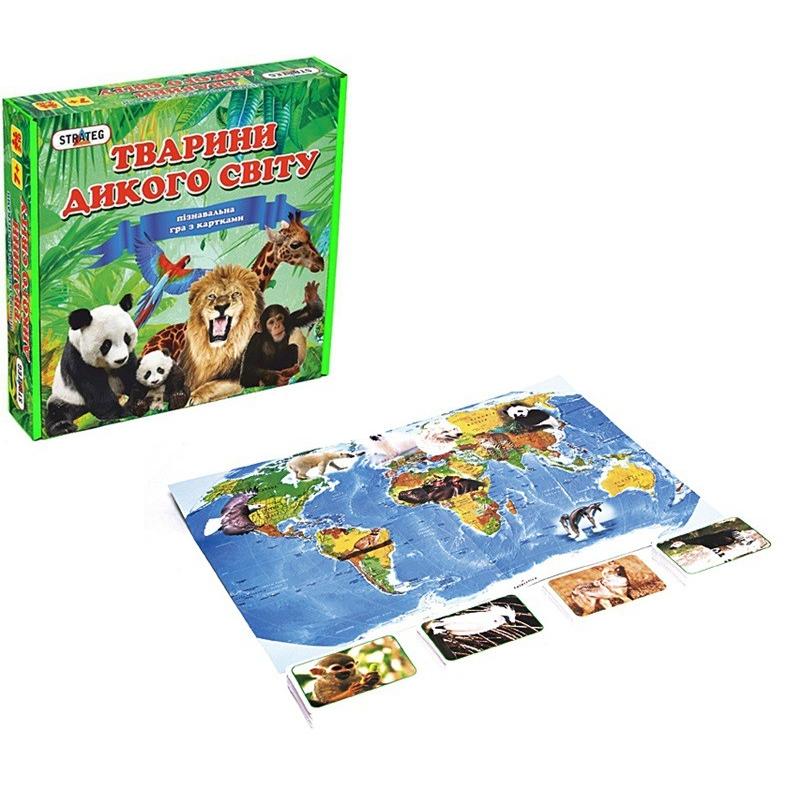 """Познавательная игра с карточками Животные дикого мира 655 купить в магазине """"Пустун"""""""