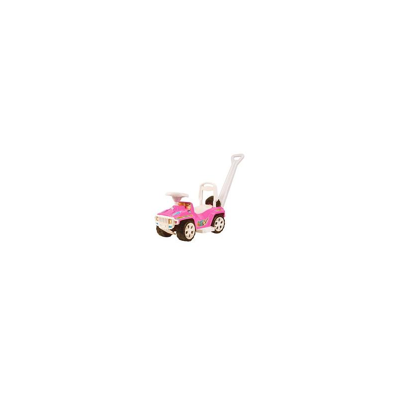 """Каталка ОРИОНЧИК с ручкой, розовая 856_Р купить в магазине """"Пустун"""""""