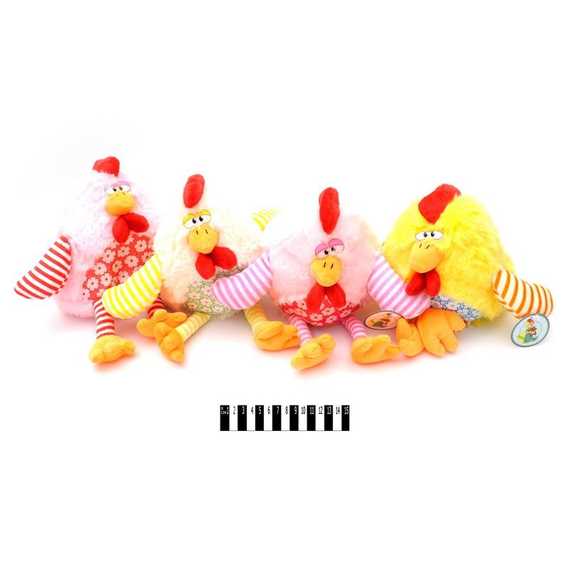 """Мягкая игрушка Пёстрый петушок 29 см купить в магазине """"Пустун"""""""