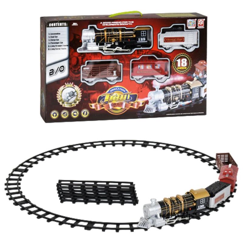 """Железная дорога 3052 (12) свет, звук, в коробке купить в магазине """"Пустун"""""""