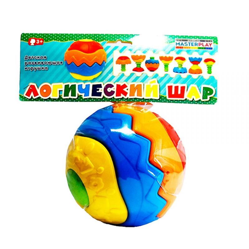 """Детская развивающая игрушка """"Логический шар"""" 1-078 купить в магазине """"Пустун"""""""