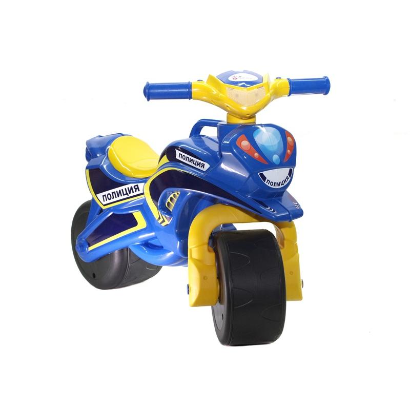 """Мотоцикл-каталка """"Полиция"""" (синий) 0138/570 купить в магазине """"Пустун"""""""