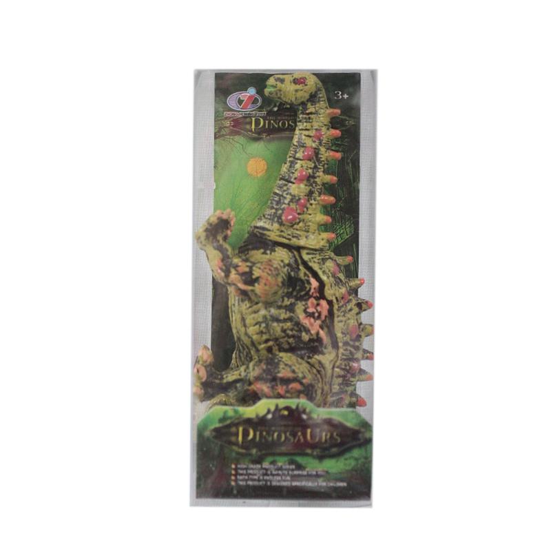 """Игрушка """"Динозавр"""" зеленый с красными шипами R332 купить в магазине """"Пустун"""""""