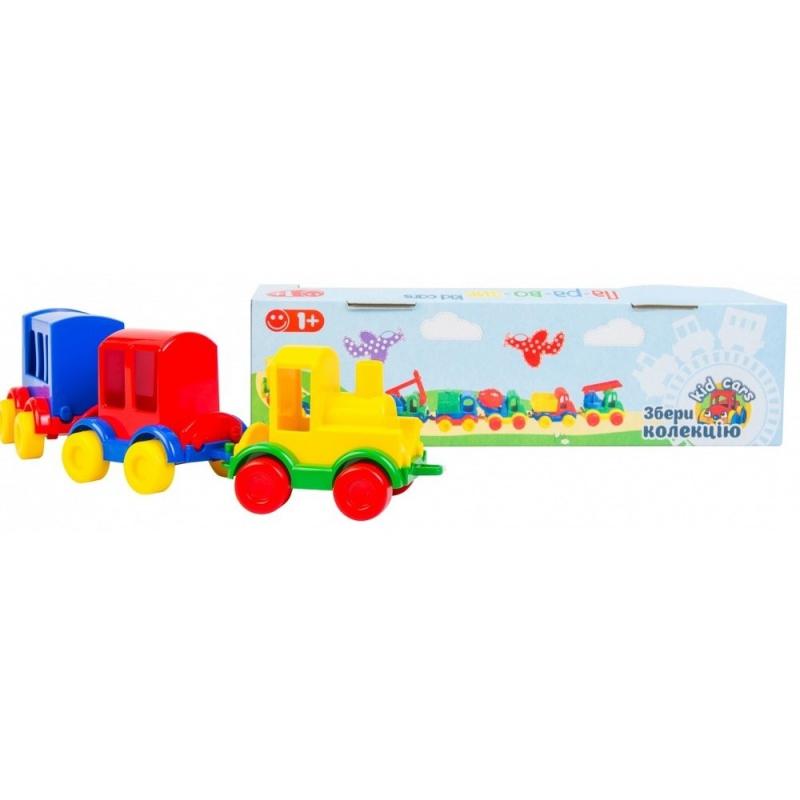 """Игрушечный паравозик TIGRES Kid cars 3 штуки (39260) купить в магазине """"Пустун"""""""