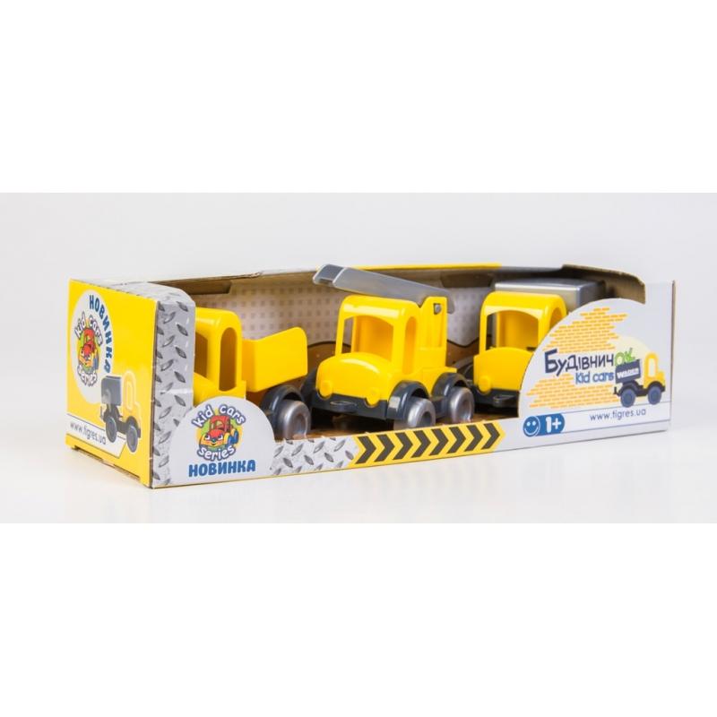 """Набор машинок TIGRES Auto Construction Set 3 авто (39270) купить в магазине """"Пустун"""""""