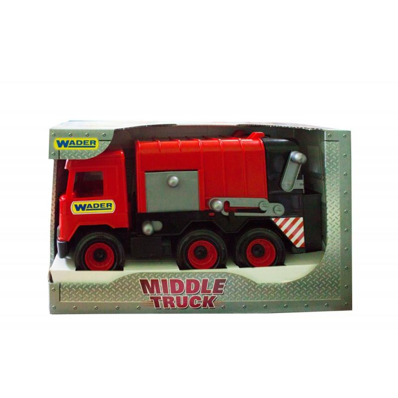 """Мусоровоз TIGRES Middle truck (красный) (39488) купить в магазине """"Пустун"""""""
