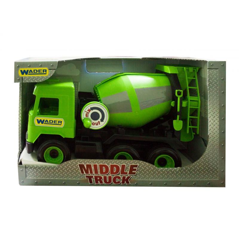 """Бетономешалка TIGRES Middle truck (зеленая) (39485) купить в магазине """"Пустун"""""""
