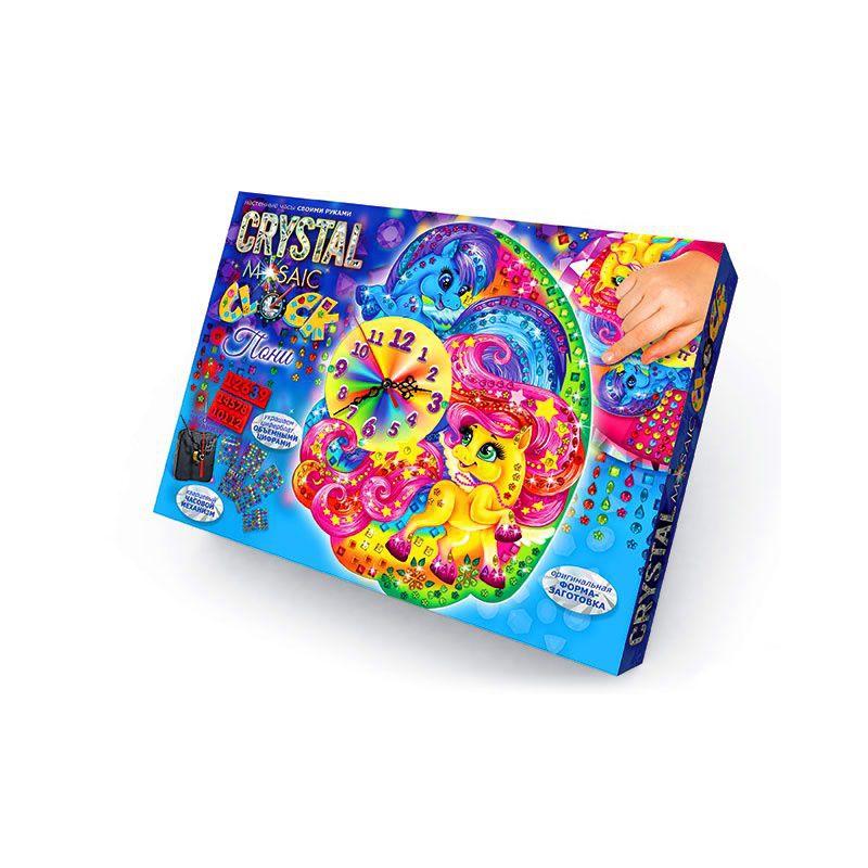 """Набор для творчества """"Crystal Mosaic Clock"""", """"Пони"""" СMС-01-01,02,03 купить в магазине """"Пустун"""""""