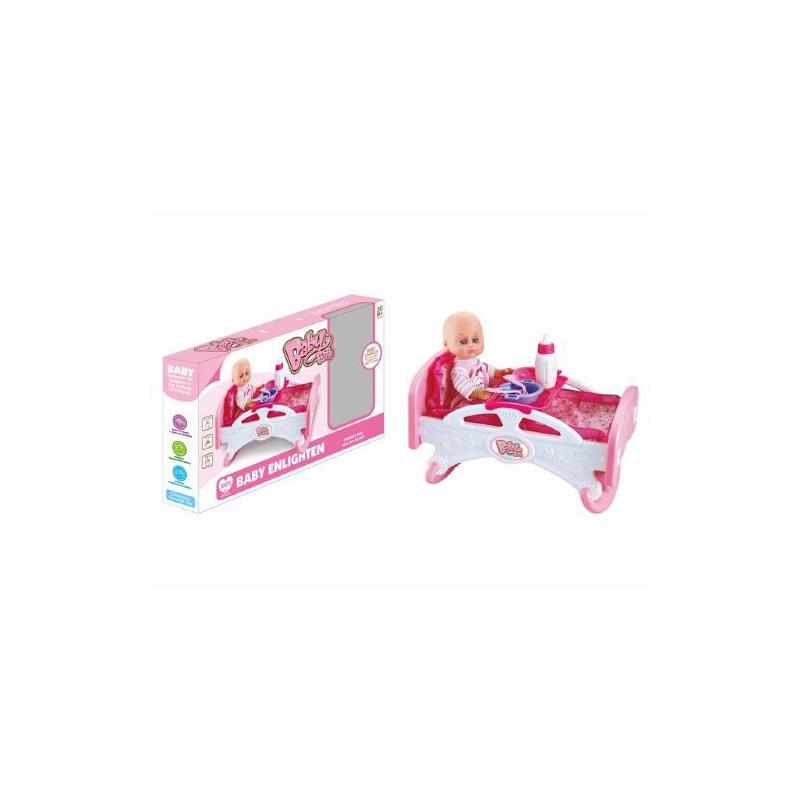"""Пупс с кроваткой и набором аксессуаров Baby Bed купить в магазине """"Пустун"""""""