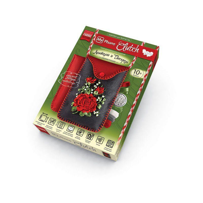 """Комплект для творчества, чехлы с вышивкой лентами, """"My Phone Clutch"""" МРСL-01-04 купить в магазине """"Пустун"""""""