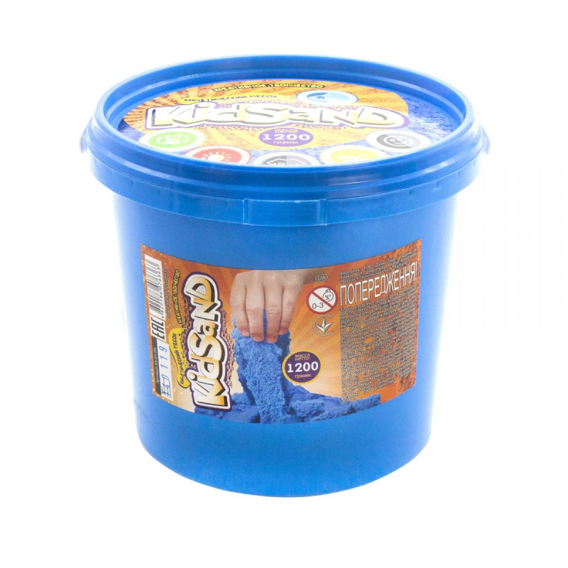 """Кинетический песок """"KidSand"""", голубой, 1200 г KS-01-04 купить в магазине """"Пустун"""""""