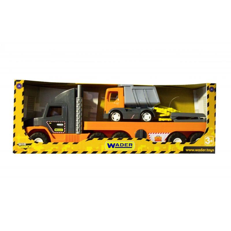 """Машинка Super Tech Truck с грузовиком (36710) купить в магазине """"Пустун"""""""