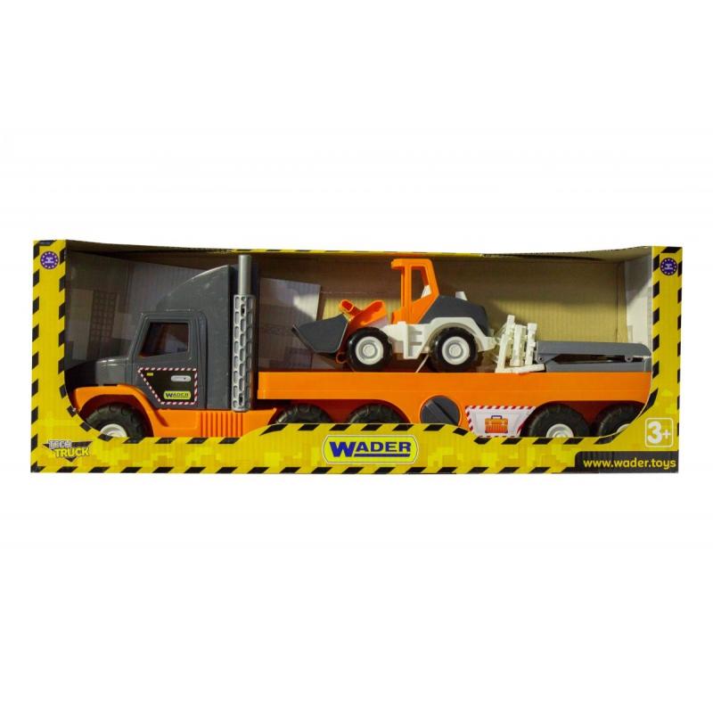 """Машинка для детей WADER Super Tech Truck с бульдозером (36720) купить в магазине """"Пустун"""""""