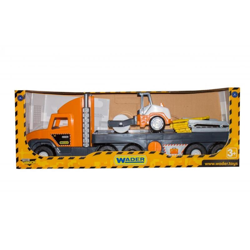 """Набор машинок WADER Super Tech Truck с катком (36740) купить в магазине """"Пустун"""""""