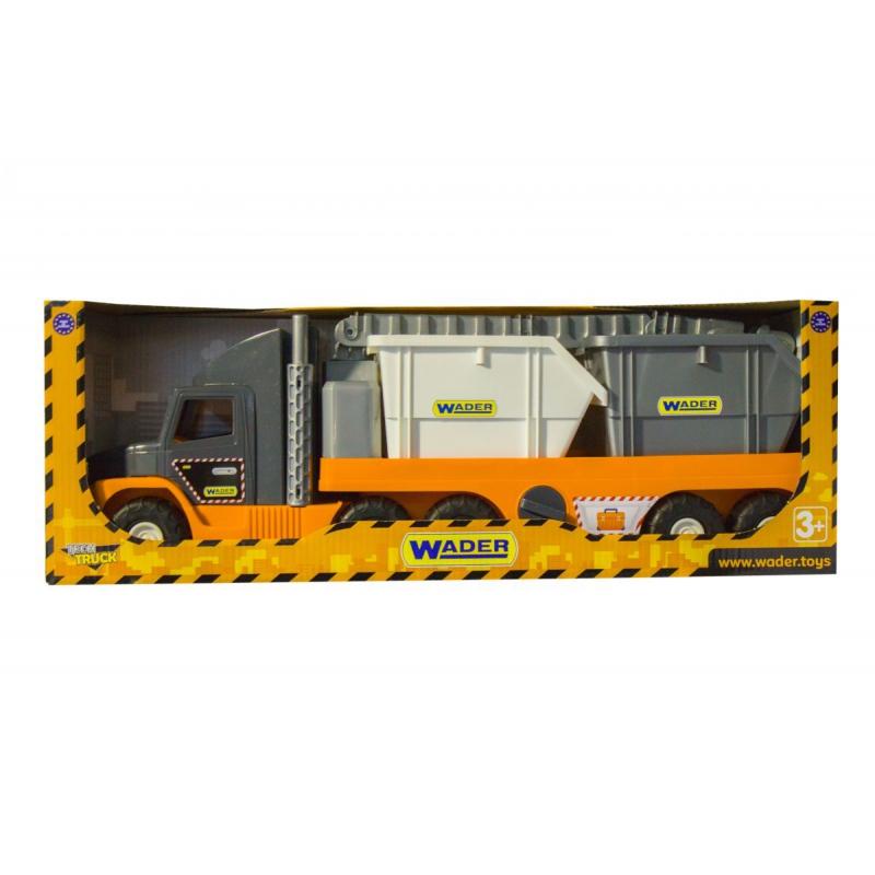 """Машинка грузовик Super Tech Truck со строительными контейнерами (36760) купить в магазине """"Пустун"""""""