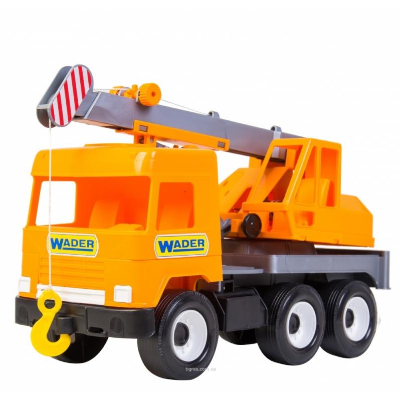 """Игрушка TIGRES Подъемный автокран Middle truck оранжевый (39313) купить в магазине """"Пустун"""""""