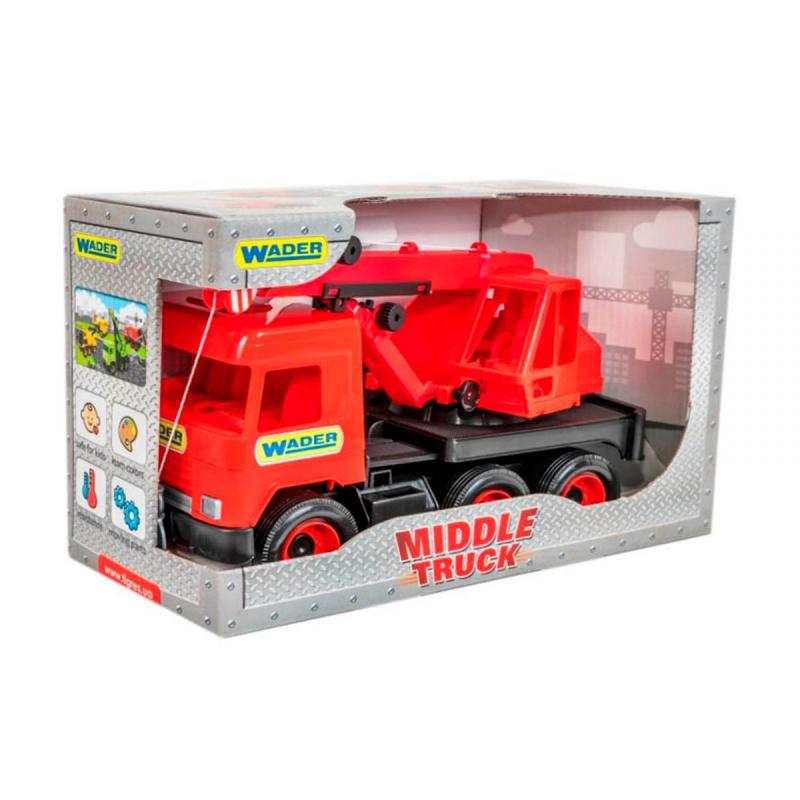 """Автокран TIGRES Middle truck (красный) (39487) купить в магазине """"Пустун"""""""