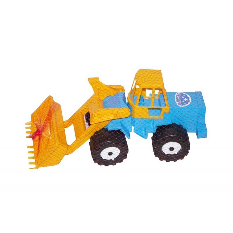 """Трактор Шустрик -скрепер №1 (синий) купить в магазине """"Пустун"""""""
