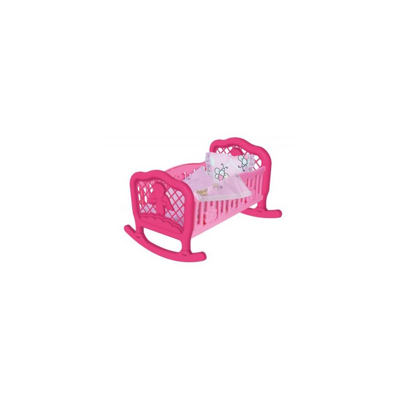 """Колыбель для куклы ТехноК (розовая) 4524 купить в магазине """"Пустун"""""""