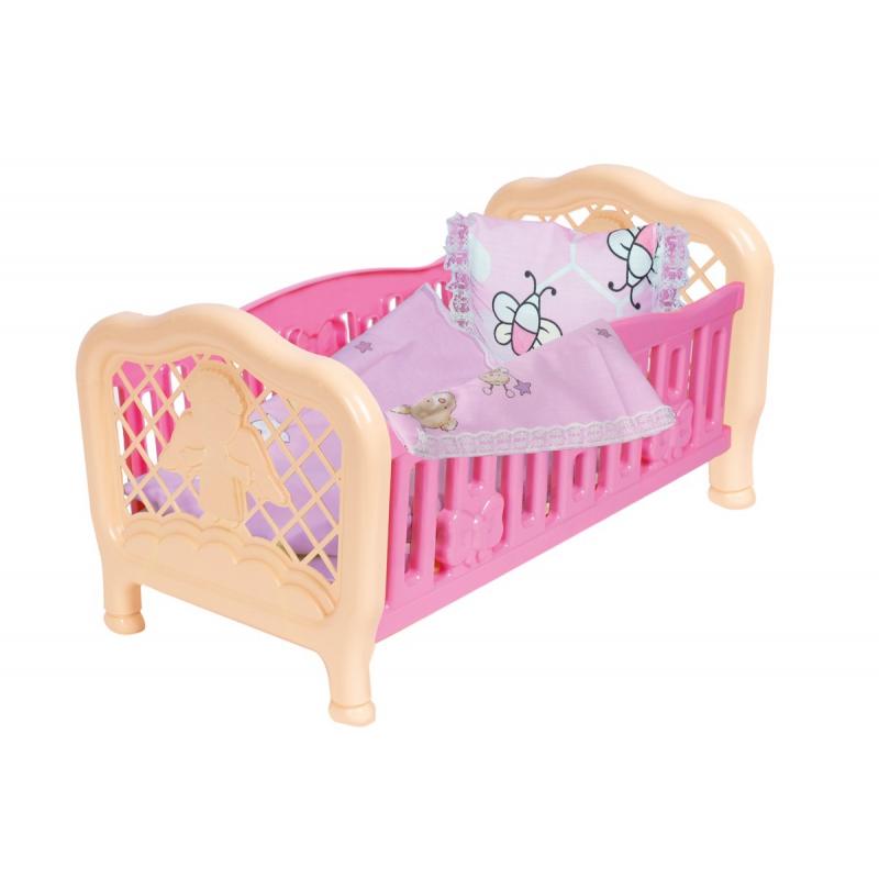 """Кроватка для куклы ТехноК (розовая) 4494 купить в магазине """"Пустун"""""""