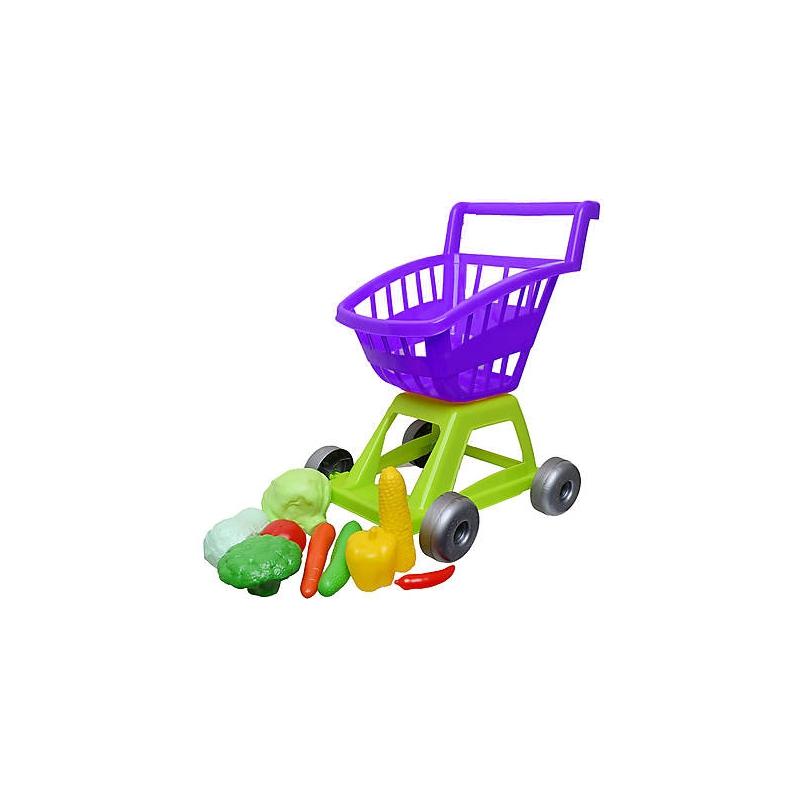 """Тележка с овощами, фиолетоваяя, 11 предметов KW-36-003 купить в магазине """"Пустун"""""""