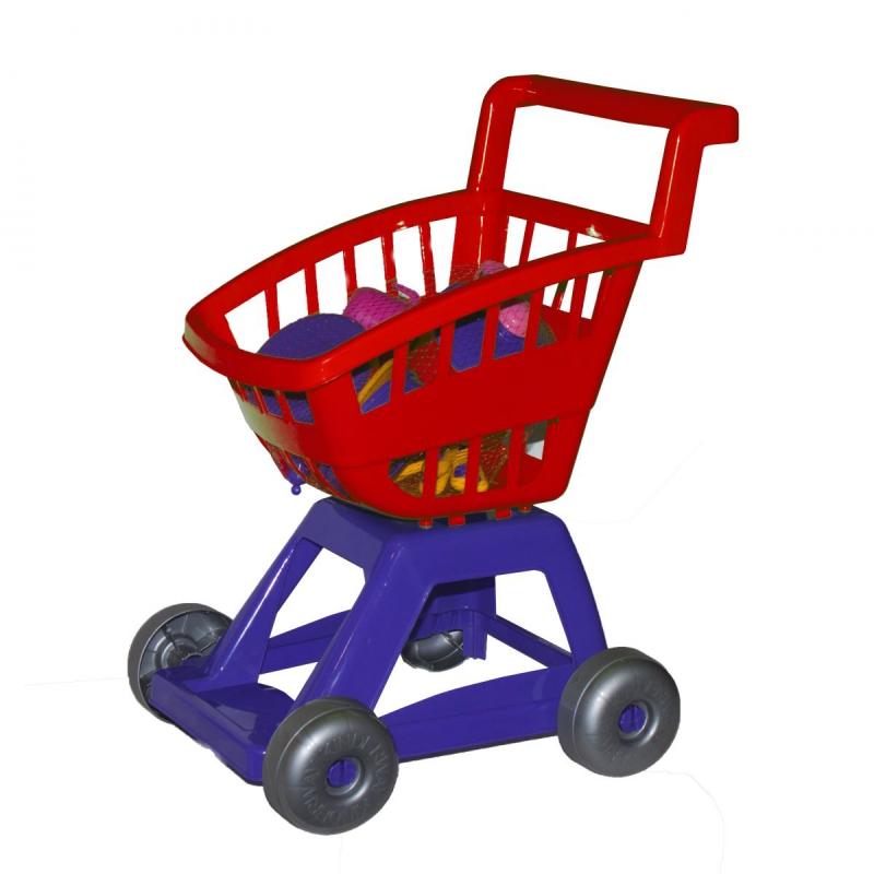 """Тележка с набором посуды (красная) KW-36-005 купить в магазине """"Пустун"""""""