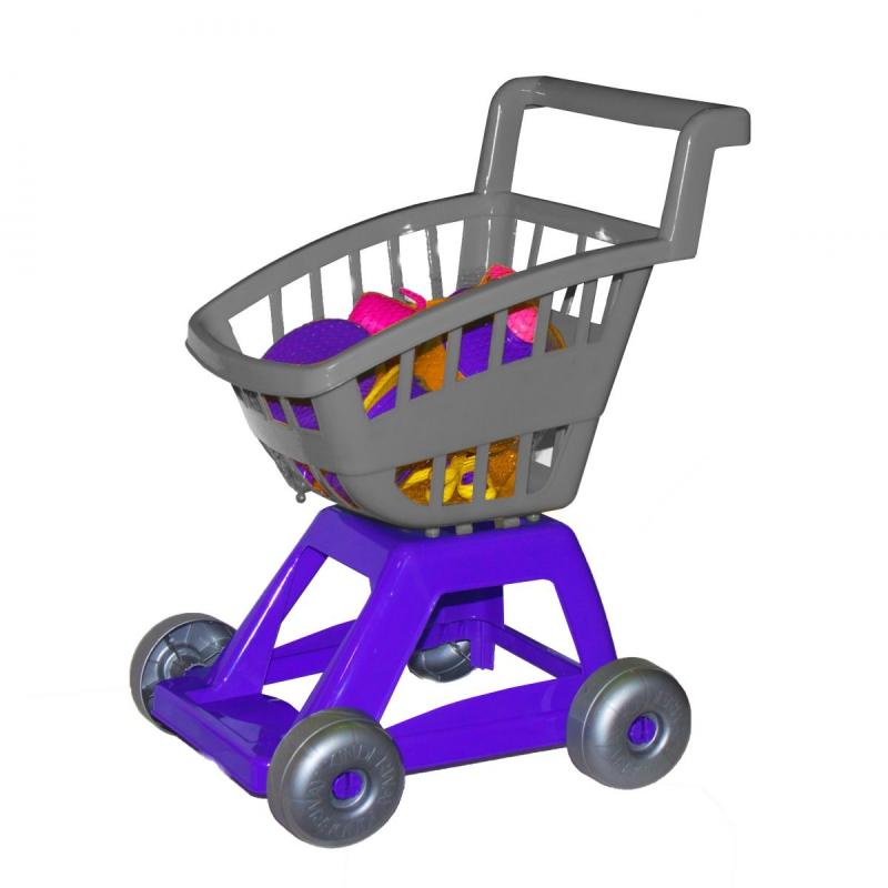 """Тележка с набором посуды (серая) KW-36-005 купить в магазине """"Пустун"""""""
