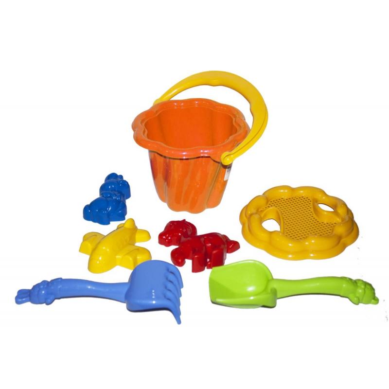 """Песочный набор """"Ромашка"""" №1 (оранжевый) 1098 купить в магазине """"Пустун"""""""